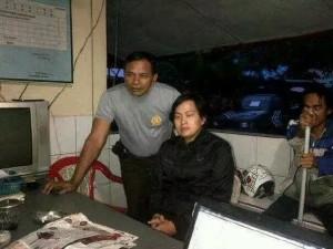 Terduga pelaku saat ditahan di Polsek Likupang