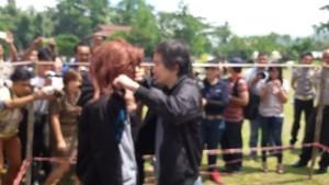 12 Adegan, Pembunuhan Astry Akay Direkonstruksi di Mapolres Tomohon