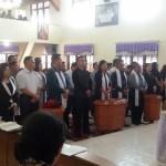 Panitia Penyuluhan Hukum Kamtibmas dan Pembinaan Politik Kristiani Rayon Tomohon Dilantik