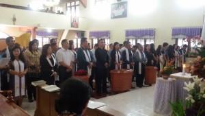 Pelantikan panitia penyuluhan hukum Kamtibmas dan Pembinaan Politik GMIM Rayon Tomohon