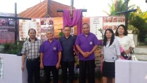 Penilaian Lomba Taman Paskah di GMIM Bait-El Kamasi