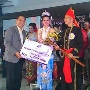Victory Mogot,Silvana Pakaya, Putra-Putri Tomohon 2015,Maryam Rau SH