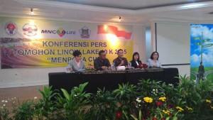 Tomohon Linow Lake , Menpora Cup, Sesmenpora, Dr H Alfitra Salam APU, Yayasan Kawanua Sedunia