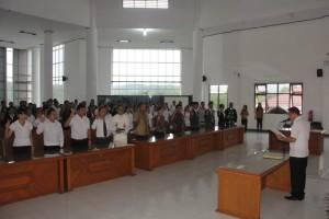 Pengambilan Sumpah dan janji Sekretariat PPK dan PPS