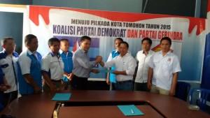Youddy Moningka Mendaftar Calon Walikota di Koalisi Demokrat-Gerindra