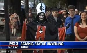 Satanic Temple, Baphomet , detroit