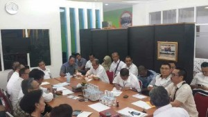 Enos presentasikan TIFFGOT di meeting Pengurus Pergatsi se-Indonesia