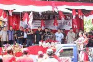 Pawai Pembangunan ,Minahasa Tenggara,  James Sumendap SH