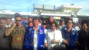 Pasangan calon Bupati dan Wakil Bupati John RM Sumual – Anne Langi
