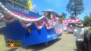 Pemkab Minsel,  Minahasa Selatan, HUT Proklamasi ,  Pawai Pembangunan , Kendaraan Hias