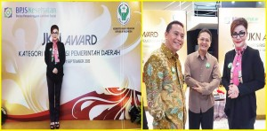 Bupati Minsel ,  Minahasa Selatan ,Christiany Eugenia Paruntu, JKN Award 2015