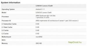 Lenovo Vibe X3, Spesifikasi Lenovo Vibe X3 , lenovo