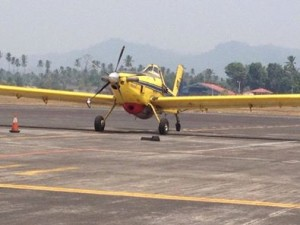 Pesawat Water Bombing, Kabut Asap, Sulut