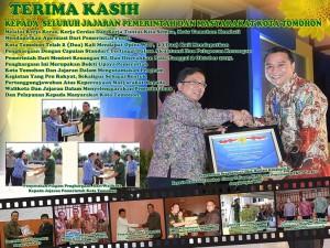 Dua Kali WTP, Walikota Tomohon Berterima Kasih kepada Jajaran dan Masyarakat