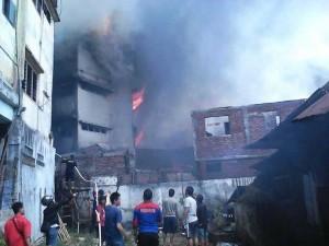 Calaca Manado, Kebakaran Calaca