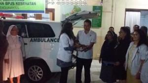 Walikota Tomohon, Jimmy F Eman SE Ak ,Mobil Ambulance,  RS Gunung Maria tomohon