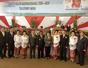 Alunan Kolintang Bupati JWS Meriahkan Perayaan HUT ke-587 Kabupaten Minahasa