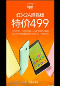 RAM dan ROM Ditingkatkan, Xiaomi Siap Jual Versi Redmi 2A yang 'Disempurnakan'