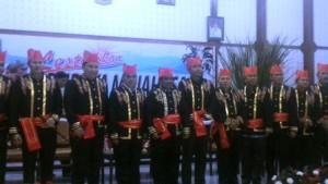 Foto bersama 12 Tokoh penerima gelar adat Tonaas Wangko.