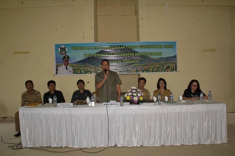 Walikota Tomohon, Jimmy F Eman SE Ak , Kecamatan