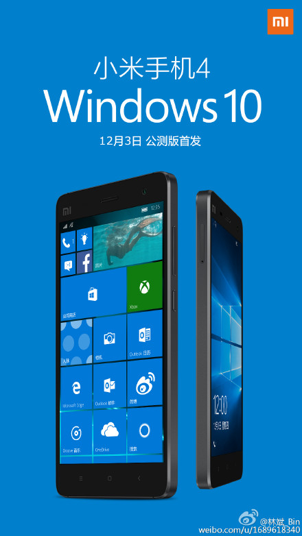 Xiaomi Mi 4 , Xiaomi ,  Windows 10,