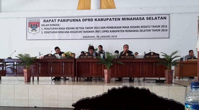 DPRD Minsel Buka Tutup masa sidang
