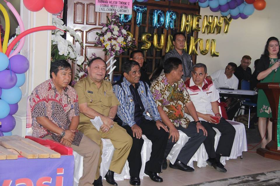 Penjabat Walikota Tomohon menghadiri HUT ke-56 Ketua BPMS GMIM
