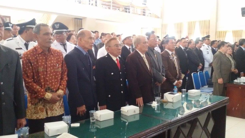 Tokoh Masyarakat, Pejuang Pembentukan Kota Tomohon yang hadir di Rapat Paripurna Istimewa DPRD daam rangka HUT ke-13 Kota Tomohon