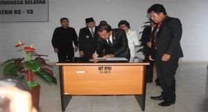 DPRD Minsel , HUT Minsel, Ir Peter Rene Hosang, Jenny J Tumbuan