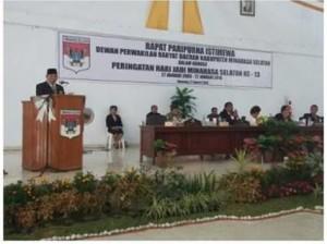 Paripurna Istimewa DPRD Minsel Dalam Rangka HUT Minsel ke -13