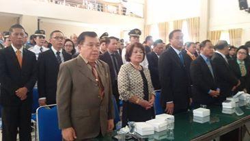Mantan Penjabat Walikota Tomohon Nico Pelealu SH MSi, istri mantan Penjabat Walikota Drs Boy S Tangkawarouw MSc dan para pejabat Pemkot Tomohon