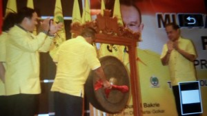 Ketua Umum Partai Golkar, Ir Aburizal Bakrie , Musda IX Partai Golkar