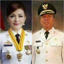Bupati dan Wakil Bupati Minsel periode 2016-2021 Christiany Eugenia Paruntu dan Frangky Donny Wongkar