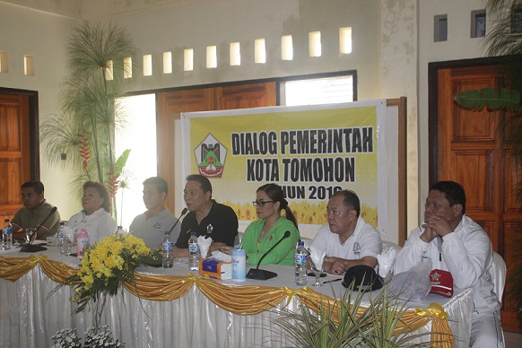 Dialog Perdana Walikota dan Wakil walikota Tomohon dengan Forkopimda