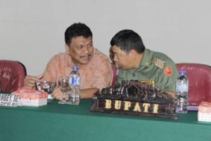 Bupati James Sumendap dan Gubernur Olly Dondokambey serius untuk membangun Minahasa Tenggara