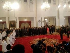 Pelantikan tujuh pasang Gubernur dan Wakil Gubernur yang dipimpin Presiden RI Joko Widodo