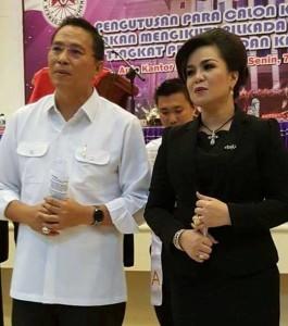 Walikota Jimmy F Eman SE Ak dan Wakil Walikota Syerly Adelyn Sompotan