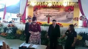 Sertijab Bupati dan Wakil Bupati Pemkab Minsel