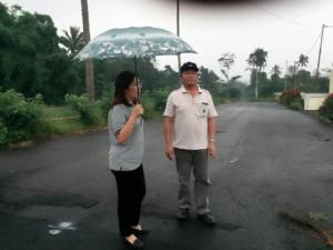Kepala Bidang Kerusakan dan Pemulihan Lingkungan Aneke Reine Gosal SP MSi  saat melakukan peninjauan dugaan pencemaran di Show Window