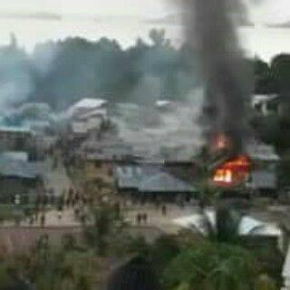 Tiga rumah dibakar di peristiwa perkelahian antar kelompok di Basaan