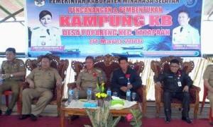 Desa Popareng, Kampung KB, Wakil Bupati Minsel, Franky Wongkar SH,
