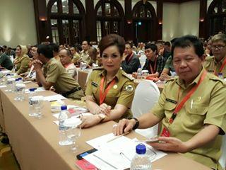 Wakil Walikota Tomohon Syerly Adelyn Sompotan (SAS) mengikuti Rakornas di kemendagri didampingi Kepala Badan Kesbangpol Drs Paulus Roring