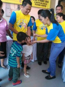 Pekan Imunisasi Nasional , PIN Polio, Ronald Kandoli