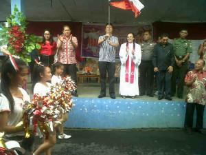 Dihadiri Wabup Ivansa, BKSAUA dan Pemerintah Kecamatan Kawangkoan Gelar Ibadah Agung Paskah