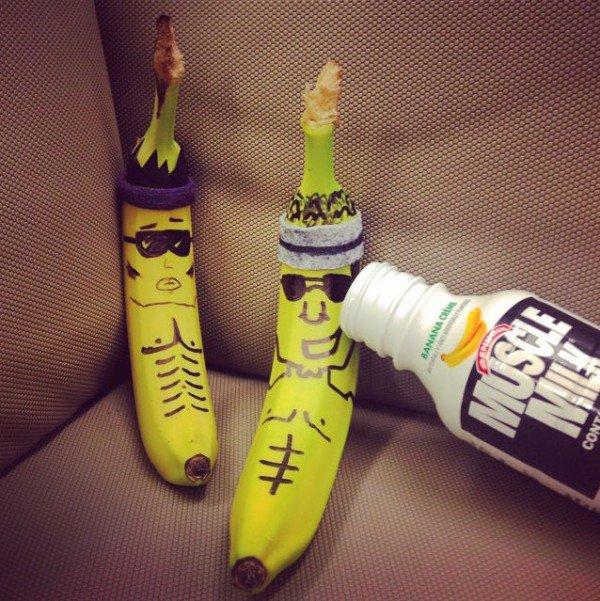 BananasGoneWild, pisang, menghias pisang, Davonte Wilson