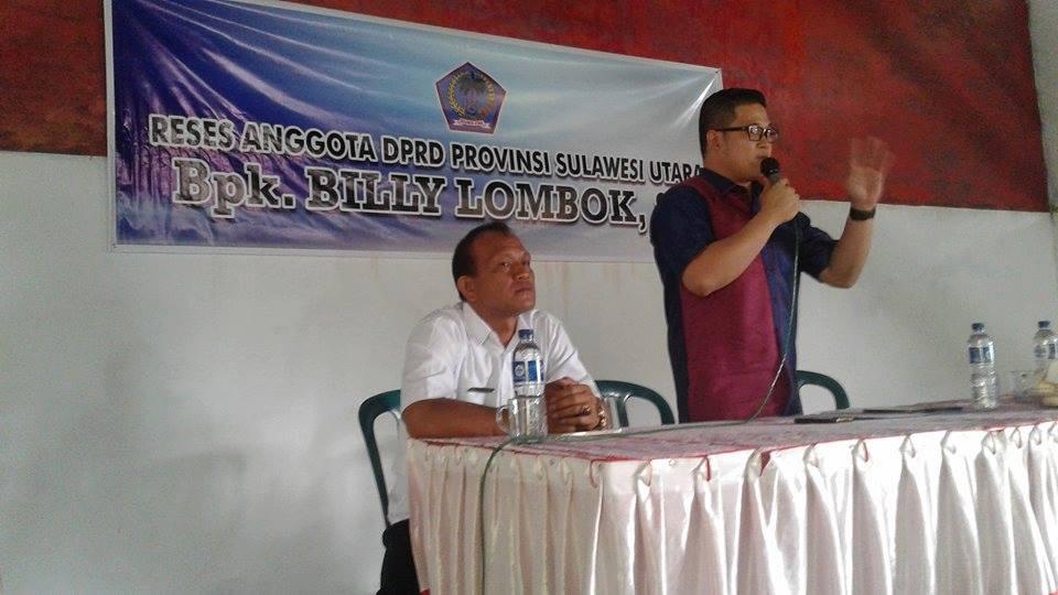 Anggota Dewan,  Billy Lombok SH, Tumaluntung ,