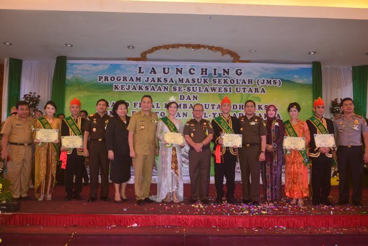 Duta-duta adhyaksa bersama Kajati Sulut dan Wali Kota Tomohon