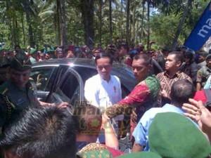 Jokowi saat mengunjungi Sulut beberapa waktu lalu untuk menghadiri BBGRM XII dan HKG PKK ke-43 di Minahasa Utara