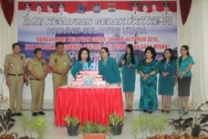 Selebrasi pemasangan dan peniupan lilin dalam perayaan hut HKG ke-44