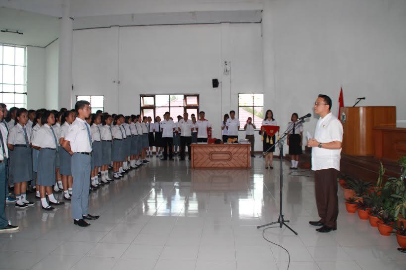 Wali Kota Tomohon membuka Seleksi Calon Paskibra Tomohon